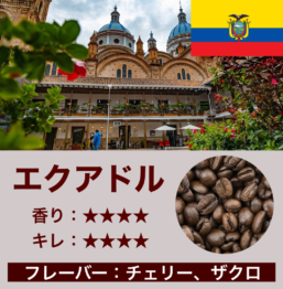 エクアドル産コーヒー豆